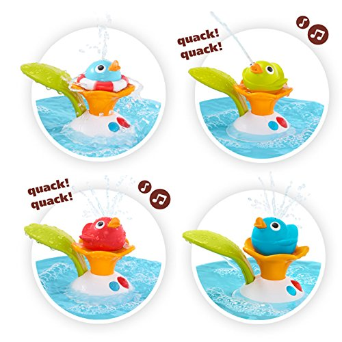 Bath Toy – Musical Duck Race with Auto Fountain, Water Pump, and 4 Racing Ducks