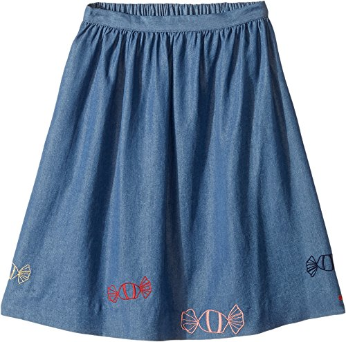 Sonia Rykiel Kids Girl's Long Chambray Skirt w/ Embroidered Candies (Big Kids) Light Blue 10 by Sonia Rykiel Kids