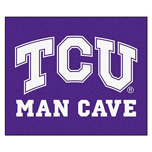 (NCAA Texas Christian University Horned Frogs Man Cave Tailgater Rectangular Mat Area Rug)