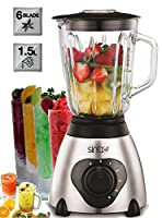 Glas Standmixer 600 Watt 1,5 Liter Smoothie Maker Ice Crusher Universal Mixer...