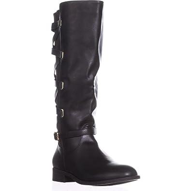 6a773e9b3f93 Thalia Sodi Womens Veronika Wide Calf Riding Boots Closed Toe