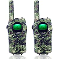 Camkiy 2 Way Radios Walkie Talkies 22 Channels and Back-lit LCD Screen (up to 6KM in open areas) Walkie Talkie for Kids Playing Games Camouflage