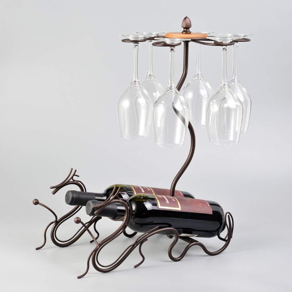 Hogar Decoración L&BW Sostenedor Creativo De La Botella del Vino del Metal Estante del Vino Estante del Vino Exhibición del Vino Regalos De Los Soportes,B