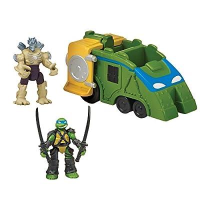 """Teenage Mutant Ninja Turtles Micro Mutant Shellraiser with 1.15"""" Scale Super Ninja Leonardo and Super Shredder Figures and Vehicle"""