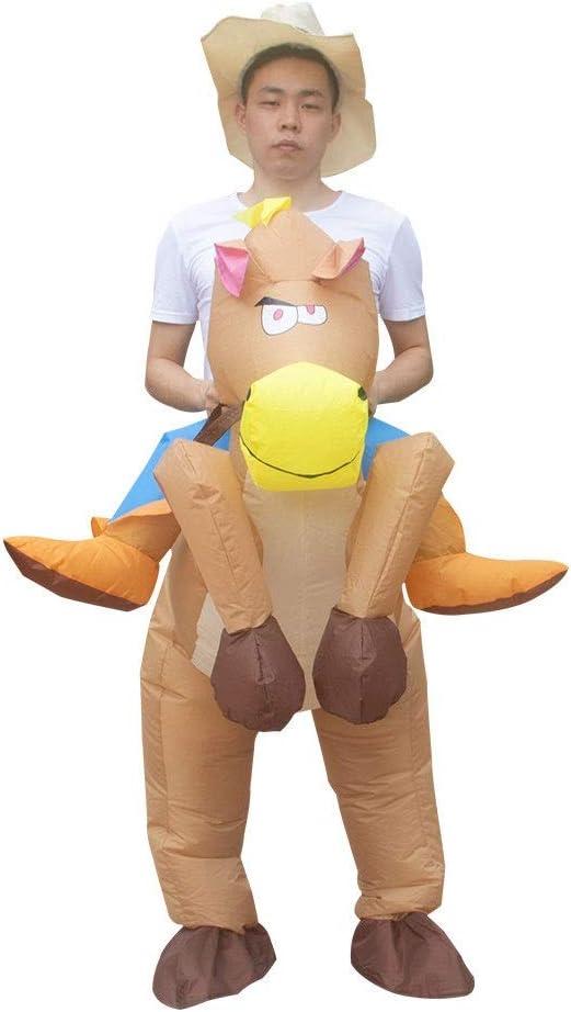 SSBH Vaquero Inflable Montando un Caballo Disfraz de Halloween de ...