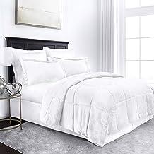 Sleep Restoration Micromink Goose Down Alternative Comforter Set - All Season Hotel Quality Luxury Hypoallergenic Comforter/Blanket with Shams -Full/Queen - White