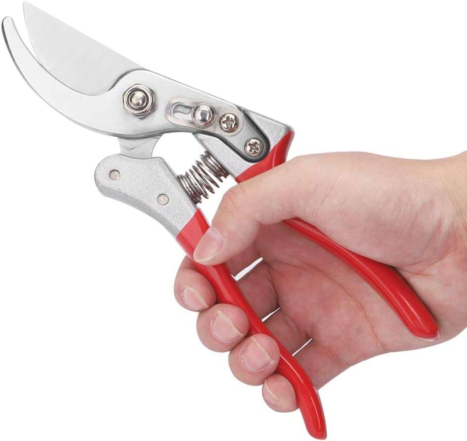 N / A Pruning Shears Hand Pruner Garden Shears Pruners for Gardening Heavy Duty Garden Scissors Clippers Red