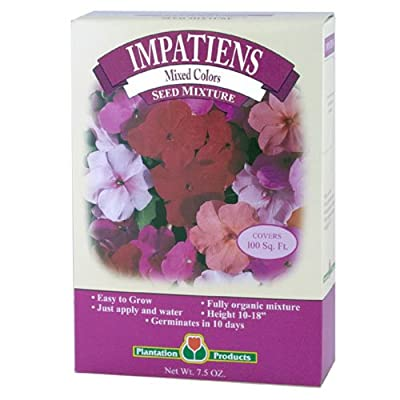 plantation products mim75 7.5 OZ, Plantation Impatiens, Seeds Mixed With Vermiculite