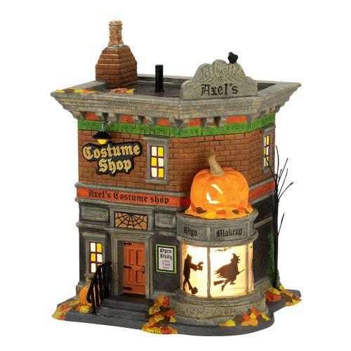 Department 56 Snow Village Halloween Axel's Costume Shop Lit House, 8.27 inch -