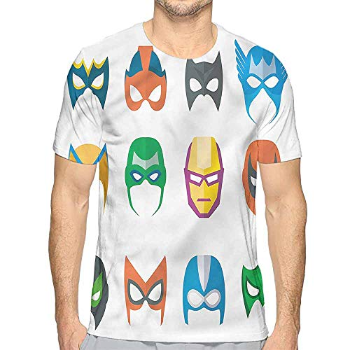 Comfort Colors t Shirt Superhero,Powerful Alliance Masks t Shirt M -
