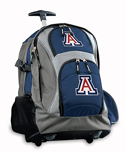 Ncaa Rolling Backpack - Broad Bay Arizona Rolling Backpack or CarryOn Suitcase Bag OFFICIAL NCAA BAGS