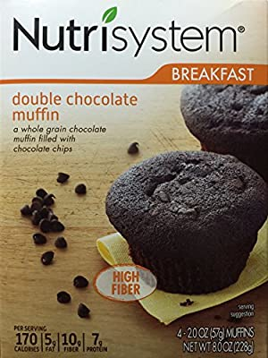 Nutrisystem Breakfast Double Chocolate Muffin, 4 - 2.0 OZ (57g) Count