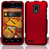 zte warp 4g boost mobile - 3-in-1 Bundle For ZTE Warp 4G - Hard Case Snap-on Cover (Red)+ICE-CLEAR(TM) Screen Protector Shield(Ultra Clear)+Touch Screen Stylus