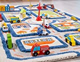 IVI Traffic 3D Play Rugs, Blue, Small