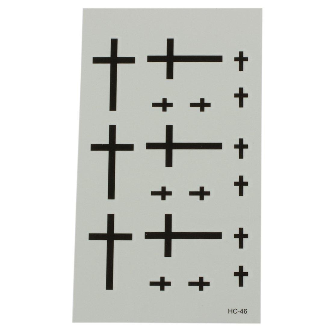 TOOGOO(R) Temporary Tattoo Stickers Waterproof Tattoos Body Art Stickers Cross Pattern