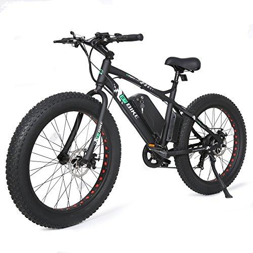 Ecotric 26 fat bike tire wheel men snow beach mountain for Go e bike motor