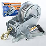 INXX 30078Winch 1130Kg Recovery Winch with Steel Rope 10m