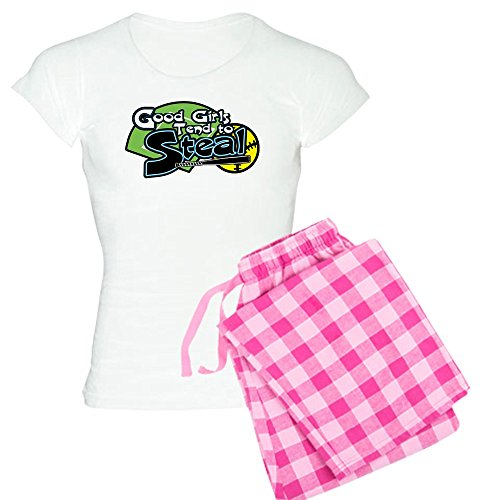 ood Girls Steal Women's Light Pajamas - Womens Novelty Cotton Pajama Set, Comfortable PJ Sleepwear ()