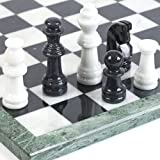 Bryant Park Deluxe Marble Chess Set - Extra Large Set King Height 4 1/2""