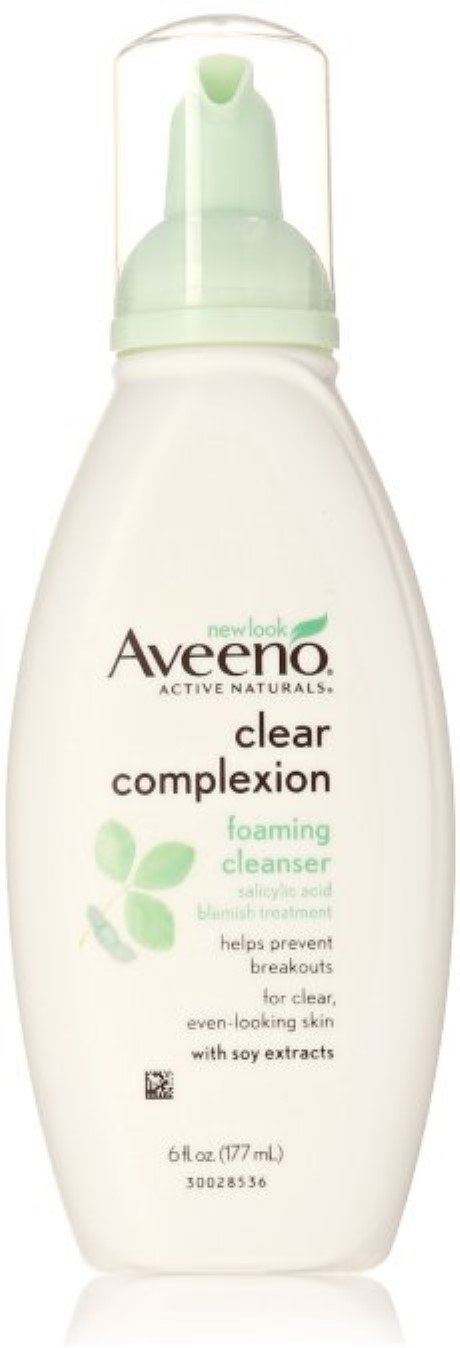 Aveeno Clear Complexion Foaming Facial Cleanser, 6 fl oz