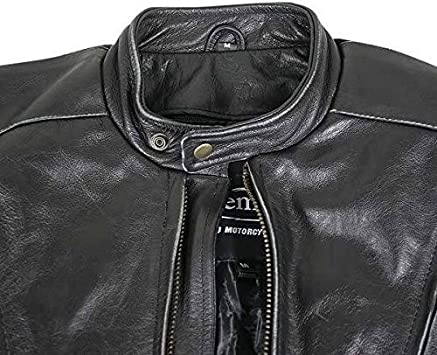 Xelement B96333 Flying Mayhem Skull Mens Black Leather Motorcycle Jacket with X-Armor Protection Large