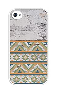 iZERCASE Aztec On Wood Colorful rubber iphone 4 case - Fits iphone 4 & iphone 4s