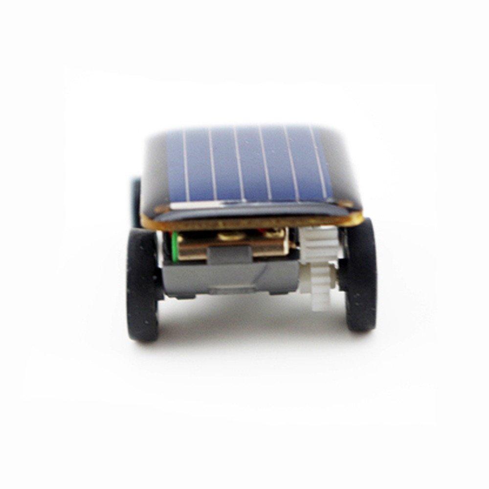 Schwarz Janly Kleinste Solar Power Mini Spielzeugauto Racer P/ädagogisches angetriebene Solarspielzeug Solarauto
