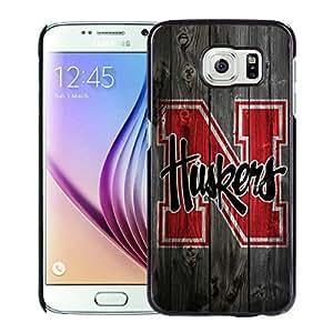 Beautiful Designed Case With Ncaa Big Ten Conference Football Nebraska Cornhuskers 12 Black For Samsung Galaxy S6 Phone Case