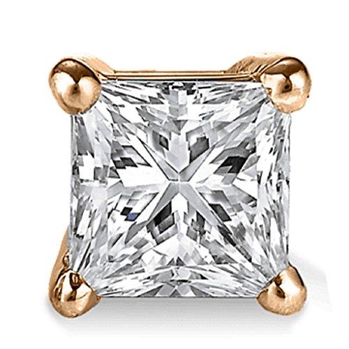 PARIKHS Princess Single Diamond Stud Promo Quality in Rose Gold (0.05 ()
