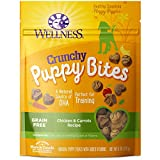 Wellness natural grain free crunchy puppy Bites dog treats are wholesome, all natural, crunchy, tasty, grain free bite-sized dog treats. Made in USA only and specially formulated for puppies under 1 year!.