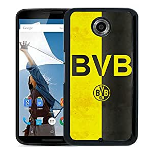 Fashionable Custom Designed Skin Case For Google Nexus 6 With Dortmund Black Phone Case 3