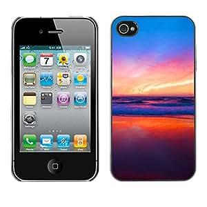 EJOY---Cubierta de la caja de protección la piel dura para el / iPhone 4 / 4S / --Colores en Sunset Beach