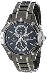 Seiko Men's SNAE57 Black Dial Watch