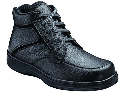 Orthofeet Plantar Fasciitis Relief Arch Support Comfort Orthopedic Diabetic Arthritis Mens High Top Boots Highline Black
