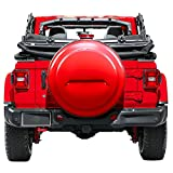 Boomerang 2018 Jeep Wrangler Rubicon JL & JLU - 33'' Color Matched Rigid Tire Cover (Plastic Face & Vinyl Band) - Firecracker Red