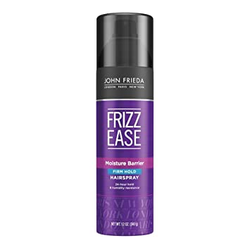 John Frieda Frizz Ease Moisture Barrier Firm Hold Spray, 12 Ounce Brushes at amazon