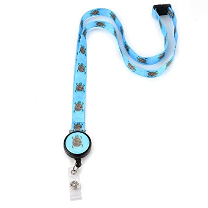 Grekywin Unique design Lanyard Keychain, Neck lanyards, ID Badge Holder,  Sea Turtle Pattern