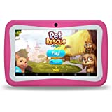 """Kids Tablet PC, 7"""" HD Eyes-Protection Screen Android 7.1 1GB RAM 8GB ROM Tablet with WIFI Kids Software Pre-Installed (Pink)"""