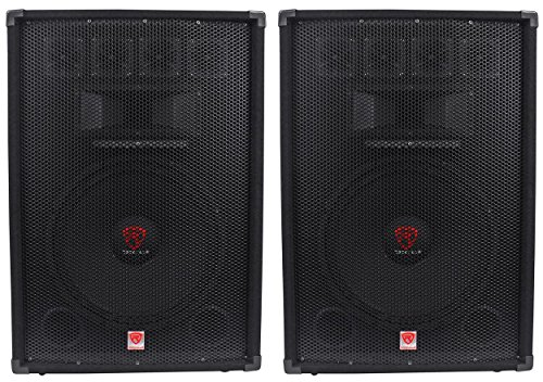 "(2) Rockville RSG15.4 15"" 3-Way 1500 Watt 4-Ohm Passive DJ/Pro Audio PASpeakers by Rockville"