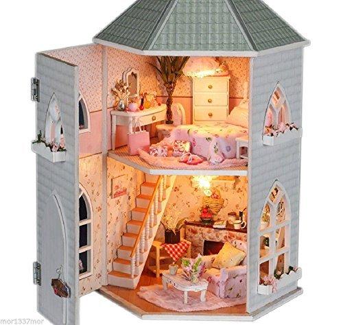 ドールハウス手作りキットセットミニチュア木製家具付きDIY Love Forts