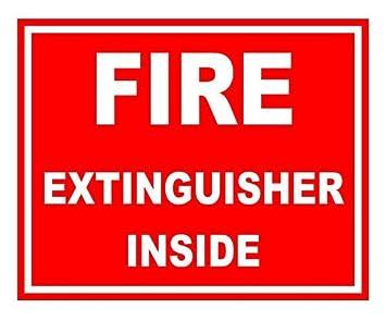 FIRE EXTINGUISHER INSIDE Vinyl Decal Sticker