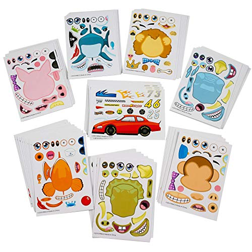 Kidsco Make Your Own Sticker - 96 Stickers Assortment, includes: Zoo Animals, Cars, Sea Creature, and More - for Kids, Arts, Parties, Birthdays, Party Favors, Crafts, School, Daycare, Etc.]()