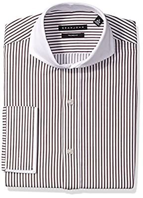 Sean John Men's Dress Shirt Regular Fit Stripe