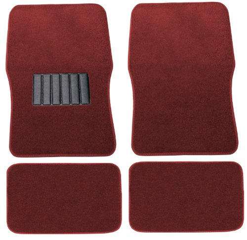 Volkswagen Carpet Beetle (Unique Imports Premium Red Carpet Floor Mats 4pc Front Rear No-Slip Carpet For Volkswagen VW Beetle)