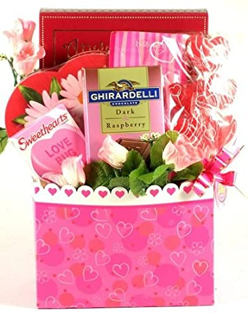 Amazon Com Perfect In Pink Valentine S Day Gift Basket With