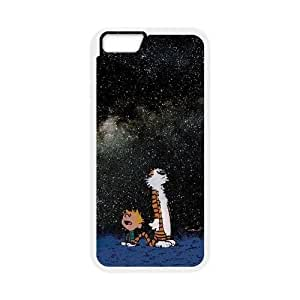iphone6s 4.7 inch Phone Case White Calvin and Hobbes Starry Night ESTY7863527