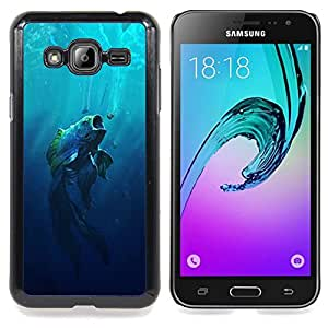 SKCASE Center / Funda Carcasa protectora - Boca grande Fish;;;;;;;; - Samsung Galaxy J3 GSM-J300