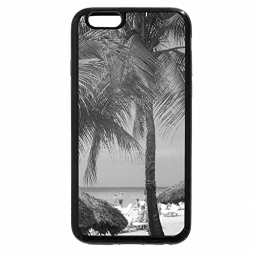 iPhone 6S Case, iPhone 6 Case (Black & White) - Jamaica Beach