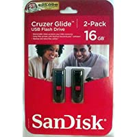 Cruzer Glide USB Flash Drive 16 GB 2 Pack