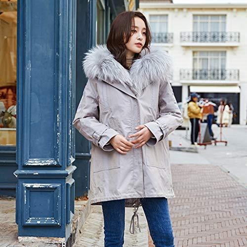 In Long Trend Cotone Pecore Piumino Down Cappotti Donna Delle Pelliccia Thick The Giacche Da Gray One Abbigliamento Tosatura Coat nPRzw